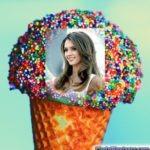 Fotomontaje en helado