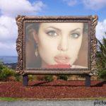Fotomontaje en la pintura de un parque