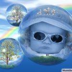 Fotomontaje en una burbuja