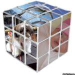 Fotomontaje en un cubo