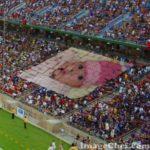 Marco para foto en un estadio