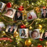 Fotomontaje en árbol navideño