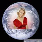 Fotomontaje en el planeta tierra