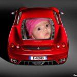 Fotomontaje en auto-ferrari F430