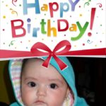 Fotomontaje en tarjeta para cumpleaños