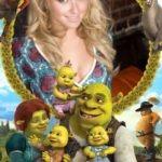 Fotomontaje con Shrek y sus hijos