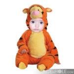 Fotomontaje para niños en disfraz de tigre