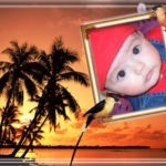 Fotomontaje en una isla