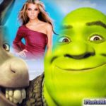 Fotomontaje con personajes de película shrek