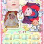 Fotomontaje en calendario con 3 fotos del 2011