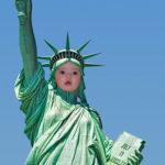Fotomontaje en Estatua de la Libertad