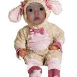 Fotomontaje infantil en disfraz de oveja