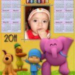 Fotomontaje en calendario infantil 2011