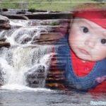 Fotomontaje en un río