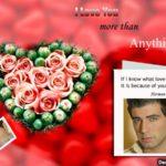 Fotomontaje en tarjeta de amor