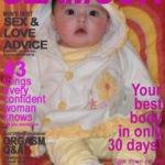 Fotomontaje en revista de glamour