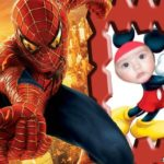 Fotomontaje en marco para fotos junto a Spiderman (El Hombre Araña)