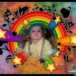 Fotomontaje en arco iris