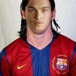 Fotomontaje en el rostro de Lionel Messi