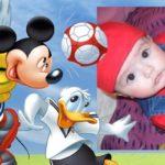 Fotomontaje en marco para fotos con Mickey y Donald