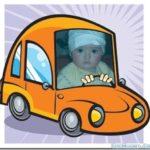 Fotomontaje manejando un auto de caricatura