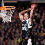 Fotomontaje en un jugador de basketball