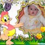 Fotomontaje de carnavales con el pato Donald