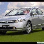 Fotomontaje en un automóvil Honda Civic