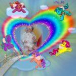 Marco para fotos de arco iris