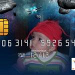 Fotomontaje en una tarjeta de crédito