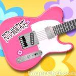 Escribe un texto en la guitarra