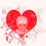 Fotomontaje con una figura de corazón