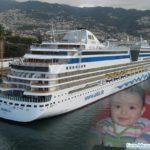 Fotomontaje gratis junto a un crucero marítimo