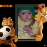 Fotomontaje con Garfield