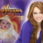 Fotomontaje junto a Hannah Montana