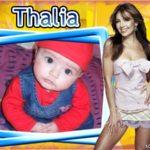 Marco para fotomontaje junto a la actriz y cantante Thalia