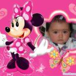 Fotomontaje infantil con Minie
