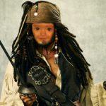 """Fotomontaje en el rostro de """"Jack sparrow"""""""