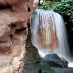 Fotomontaje gratis en una cascada