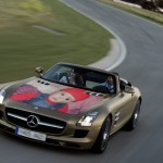 Fotomontaje gratis en un hermoso auto