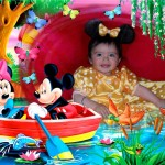 Fotomontaje con Minnie y Mickey