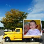 Fotomontaje online en carro americano clásico