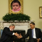 Fotomontaje gratis con Lula y Barack Obama