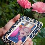Marco para fotos online con una rosa rosada