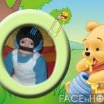 Fotomontaje gratis con Winnie pooh bebe