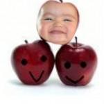 """Fotomontaje divertido online en una """"manzana feliz"""""""