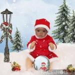 Fotomontaje infantil de navidad en faceinhole.com