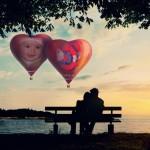 Fotomontaje con dos fotos en globos aerostáticos