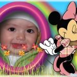 Marco para fotos infantil con Minie Mouse