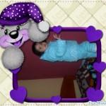 Marco para fotos infantil con un lindo osito